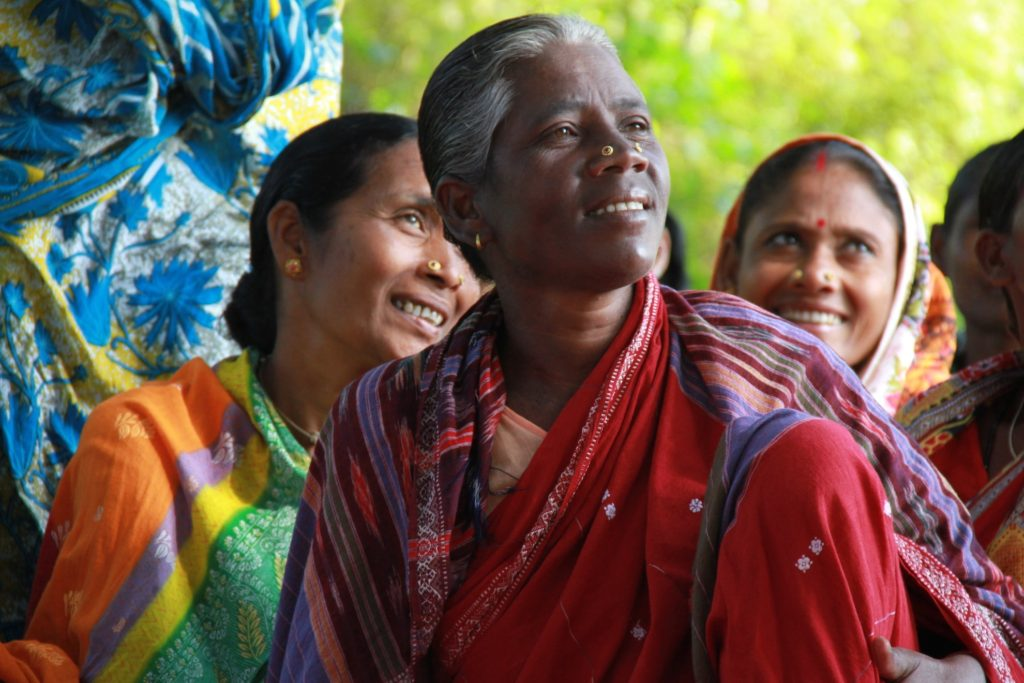 Fairtrade cotton farmers at a general meeting