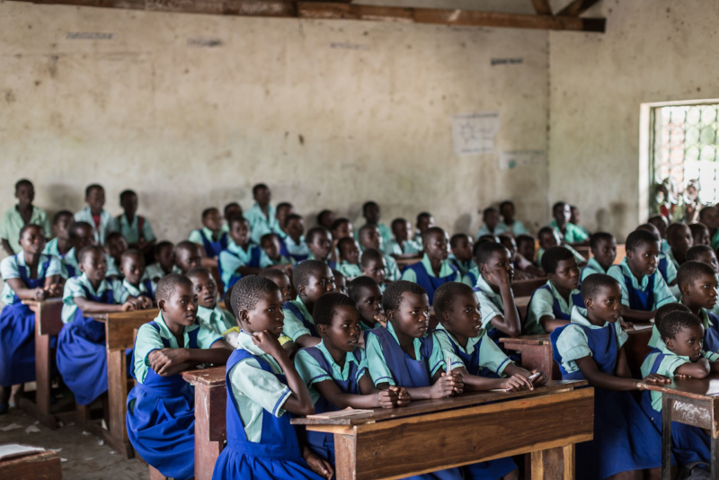 A premium funded schoo in Chinangwa, Chikwawa which is giving many children in the area a chance to attend primary school.